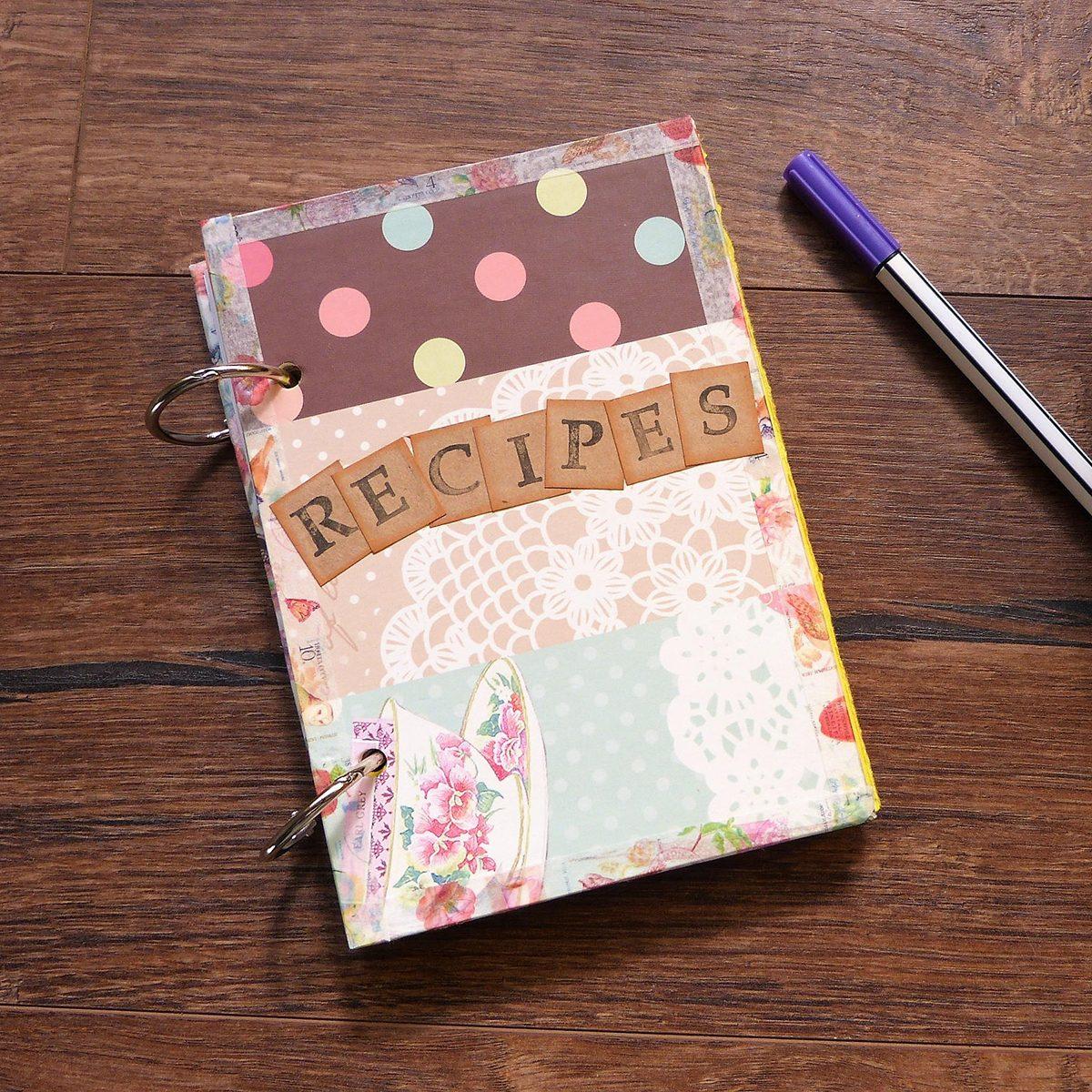Eco-friendly recipe book