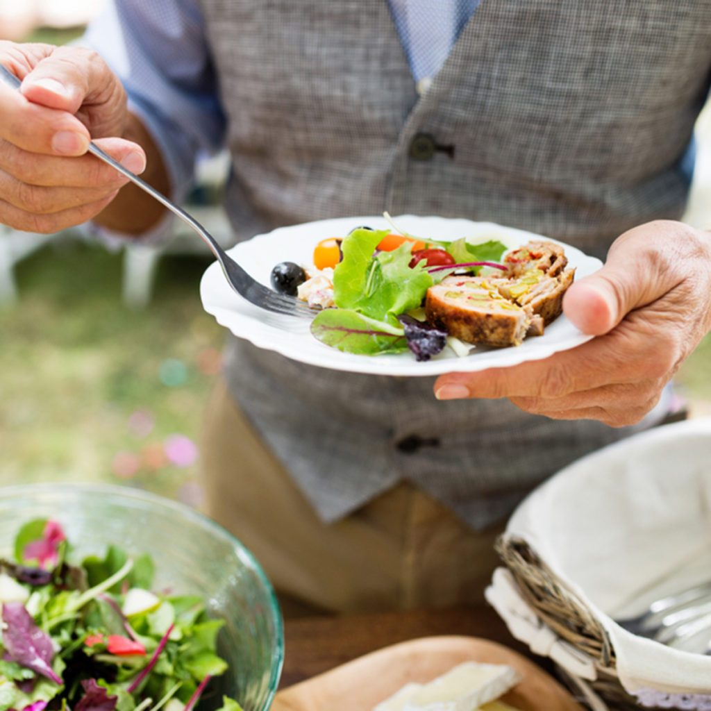 Family celebration or a garden party outside in the backyard.; Shutterstock ID 1054764974; Job (TFH, TOH, RD, BNB, CWM, CM): Taste of Home