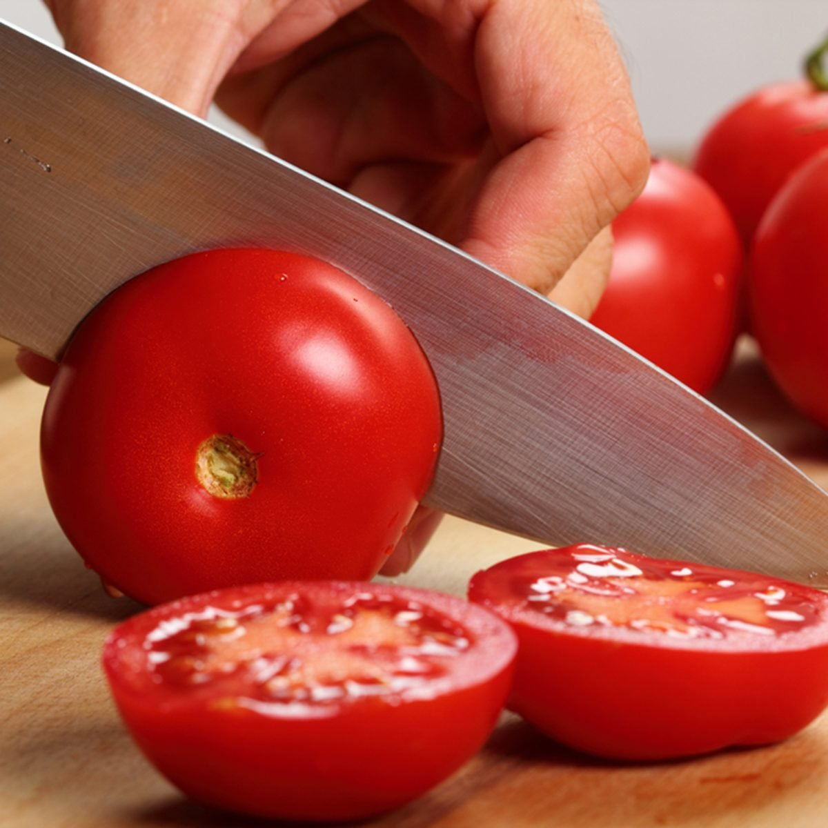 Slice Tomatoes in Half