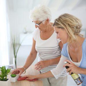 grandma sharing cleaning tips