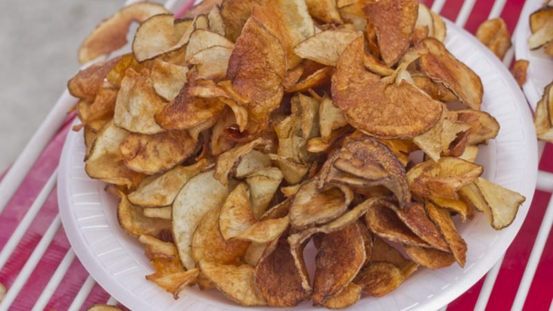 Carnival style ribbon cut potato chip fries
