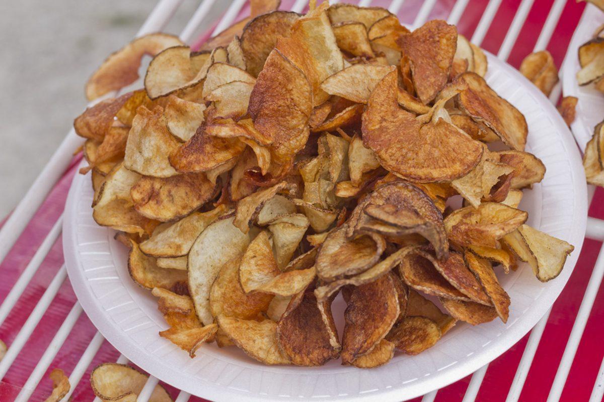 Carnival style ribbon cut potato chip fries