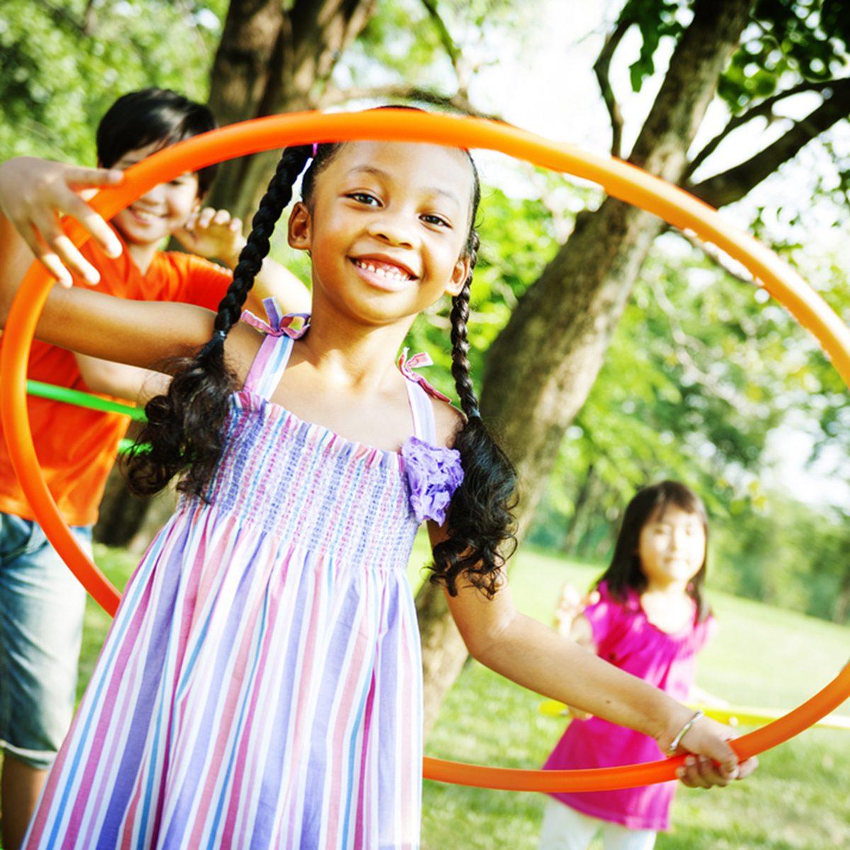 Children Playing Hoop