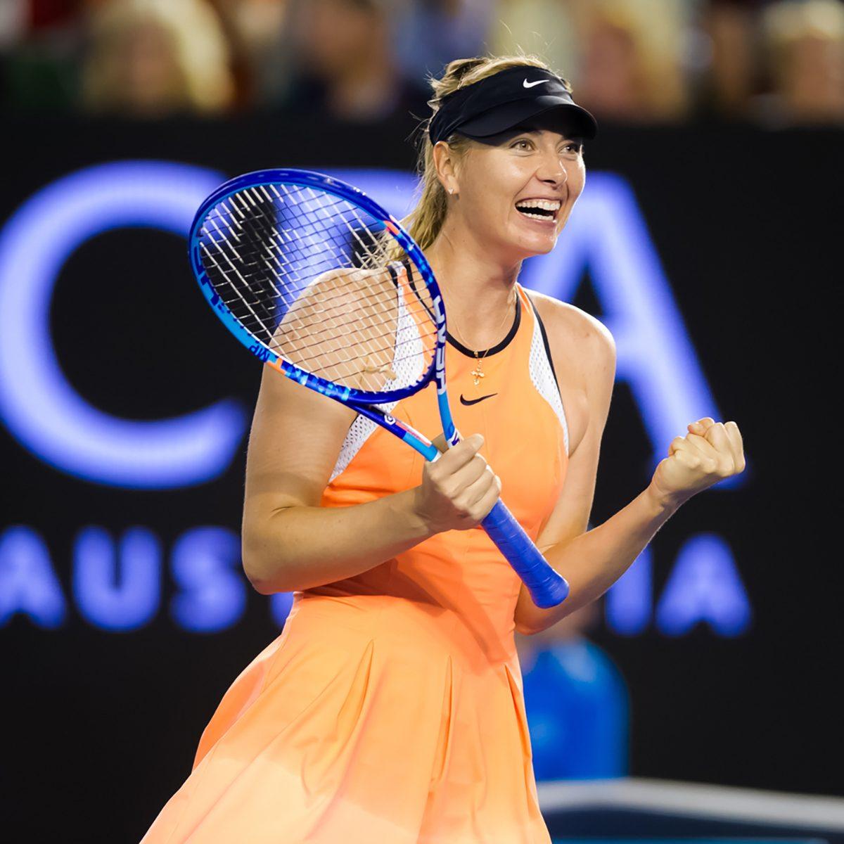 Maria Sharapova in action at the 2016 Australian Open