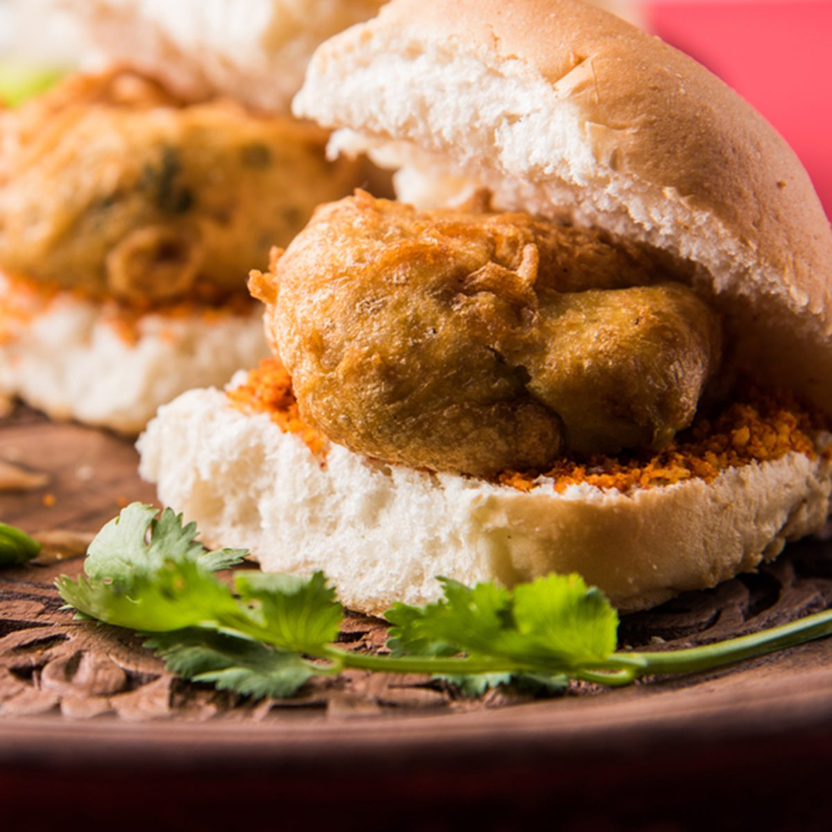 Vada Pav OR Wada Pao is Indian OR Desi Burger, is a roadside fast food dish from Maharashtra.
