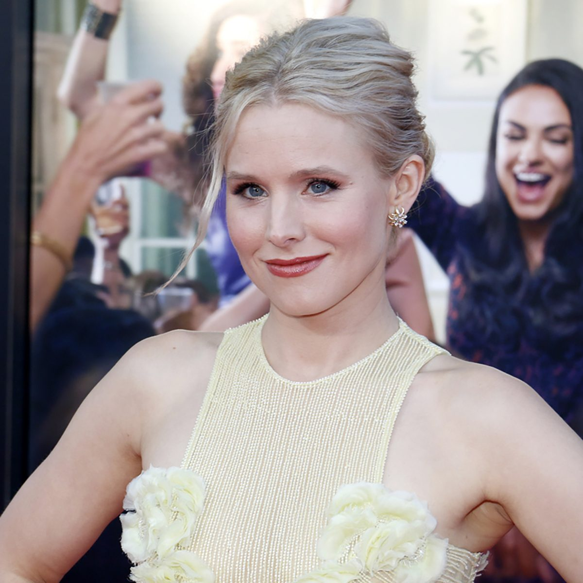 Kristen Bell at the Los Angeles premiere of 'Bad Moms' held at the Mann Village Theater in Westwood, USA on July 26, 2016.