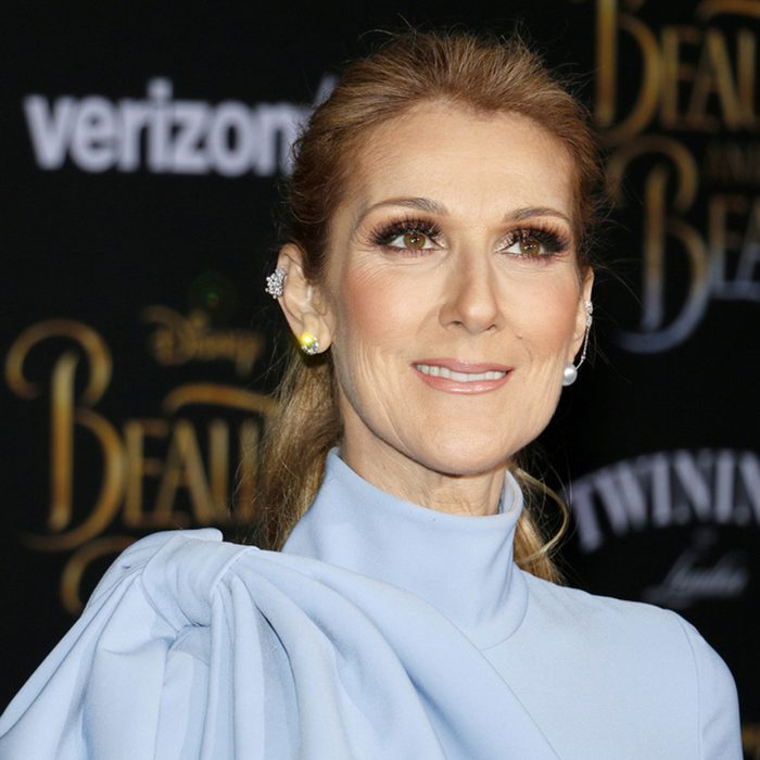 Celine Dion at the Los Angeles premiere of 'Beauty And The Beast' held at the El Capitan Theatre in Hollywood
