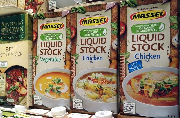 KUALA LUMPUR, MALAYSIA - AUGUST 28, 2017 : Massel brand organic style stock on shelf. It is an Australian Organic food and beverage brand endorsed under the Australian Certified Organic program.; Shutterstock ID 719717521; Job (TFH, TOH, RD, BNB, CWM, CM): TOH Dollar Store buys