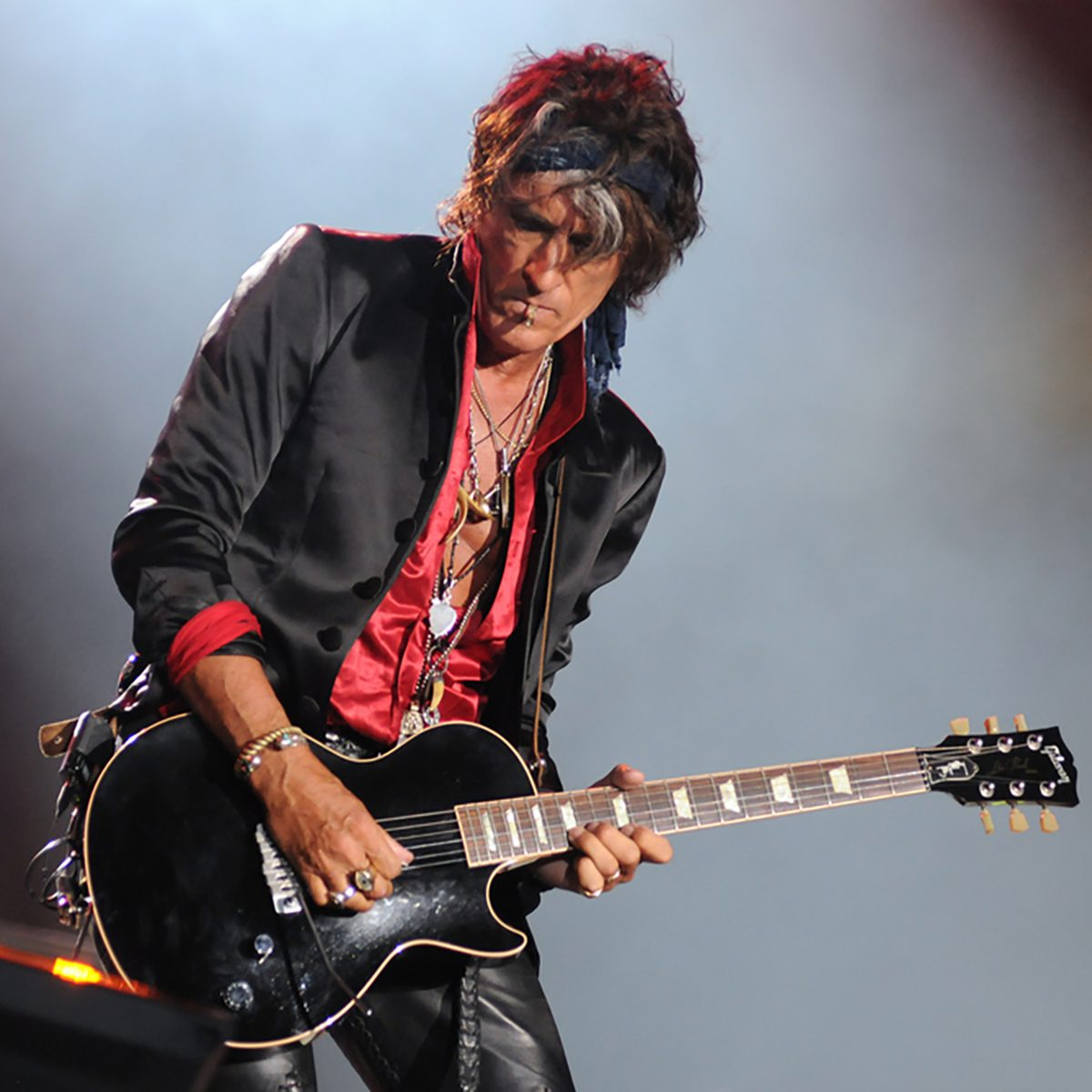 Guitarists Joe Perry during their concert of the band Hollywood Vampires at Rock in Rio 2015 in Rio de Janeiro, Brazil
