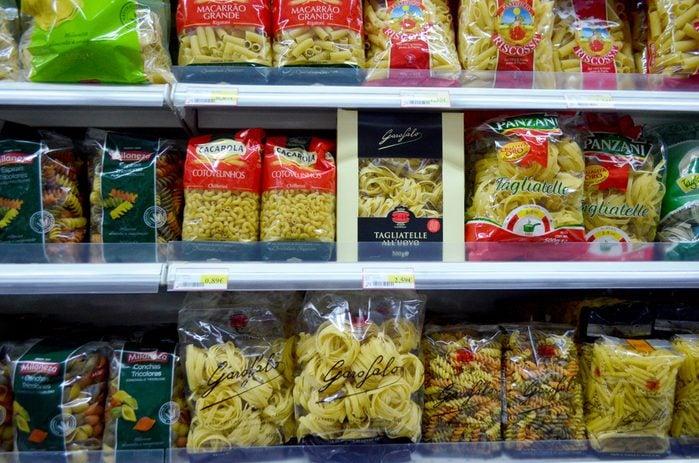 Portugal, Algarve, Circa 22.10.2013 Selection of pasta for sale in a supermarket in Portugal.; Shutterstock ID 778028962