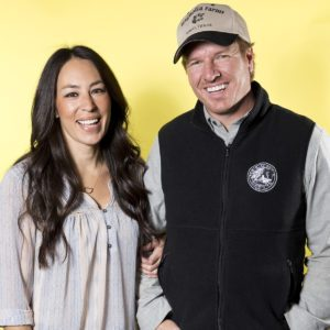 Joanna Gaines, left, and Chip Gaines pose for a portrait in New York to promote their home improvement show,