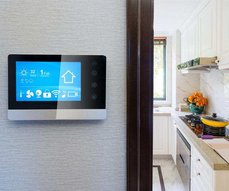 smart screen with smart home and modern kitchen; Shutterstock ID 762124678; Job (TFH, TOH, RD, BNB, CWM, CM): TOH Amazon Echo