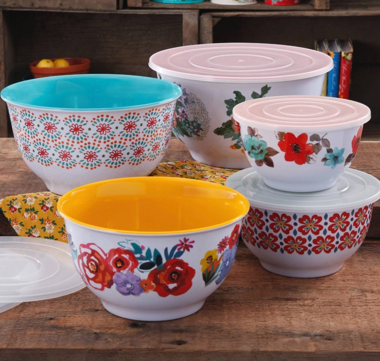 Pioneer Woman nesting mixing bowls