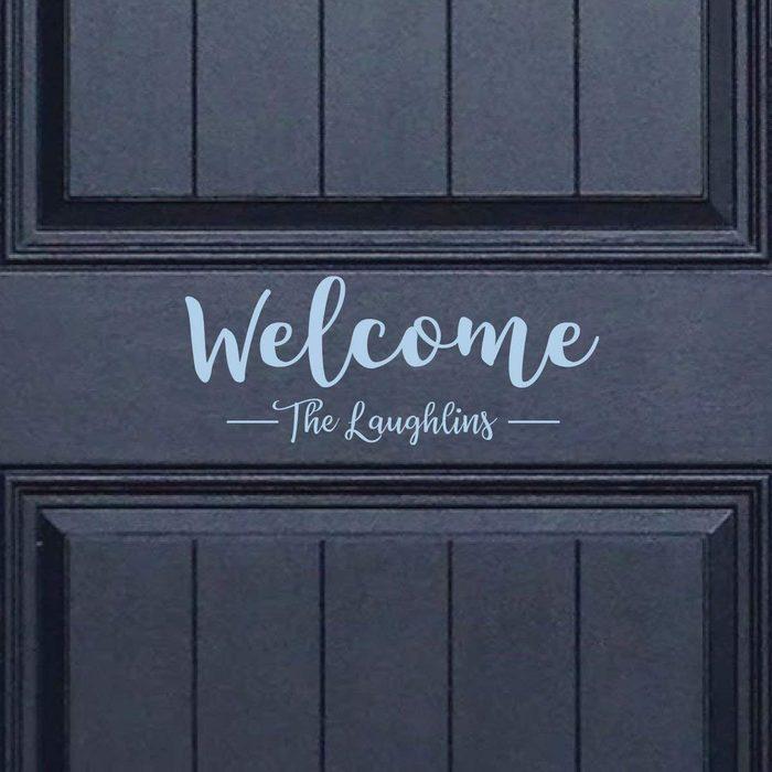 personalized door decal