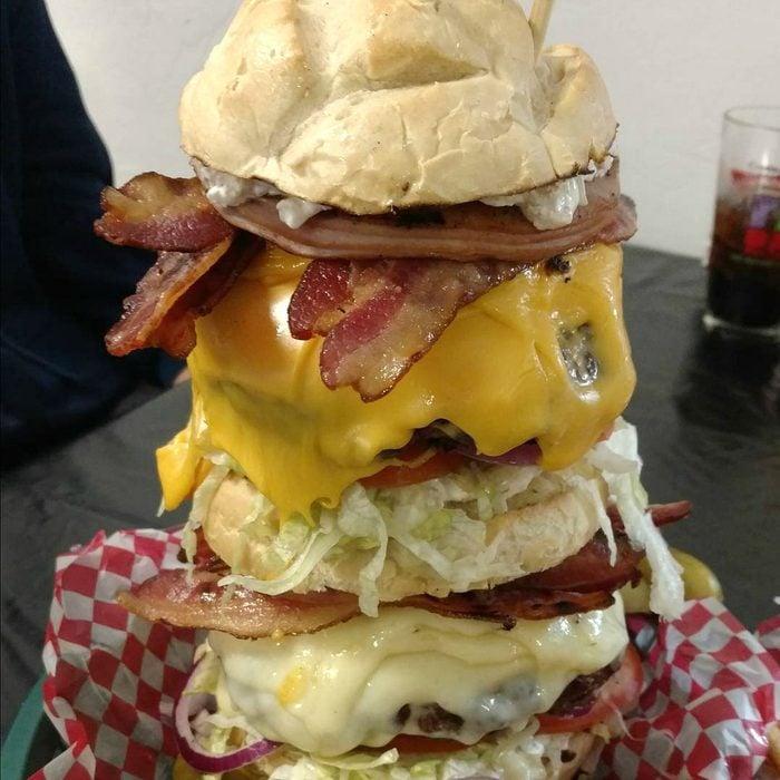 West Rib Pub Grill burger
