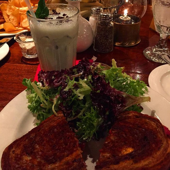 Grilled sandwich and salad at The Griswold Inn Tap Room