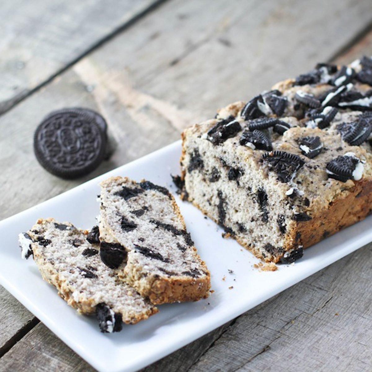 Cookies and cream ice cream bread