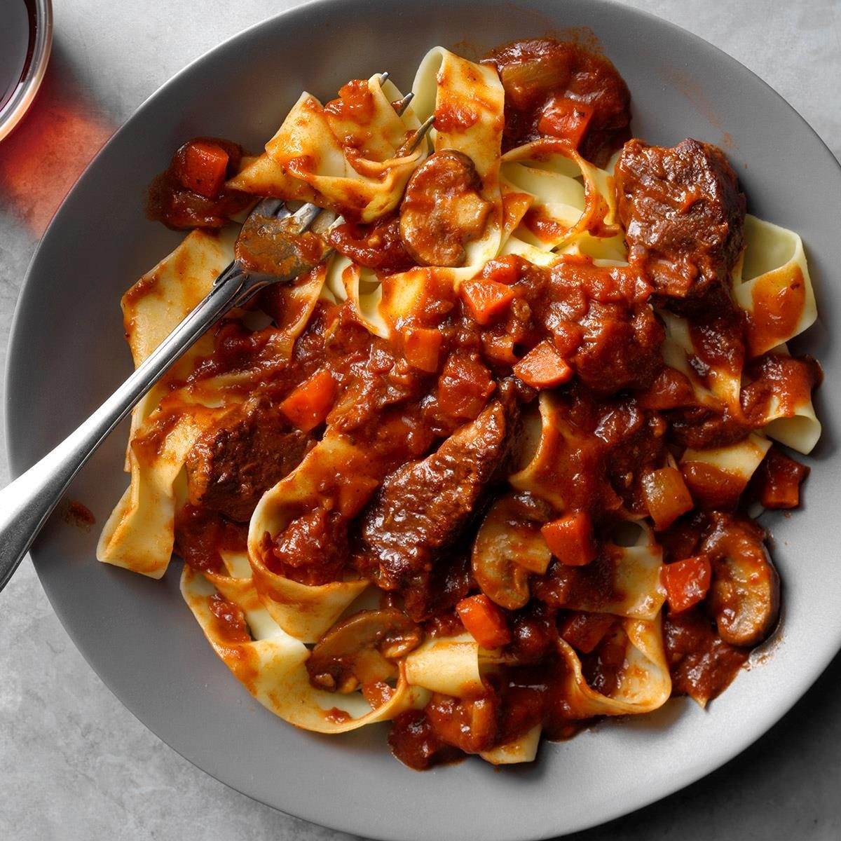 Slow-Cooker Short Rib Ragu Over Pappardelle Recipe
