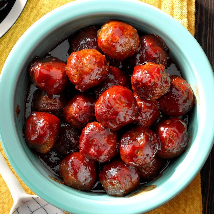 Chili and Jelly Meatballs