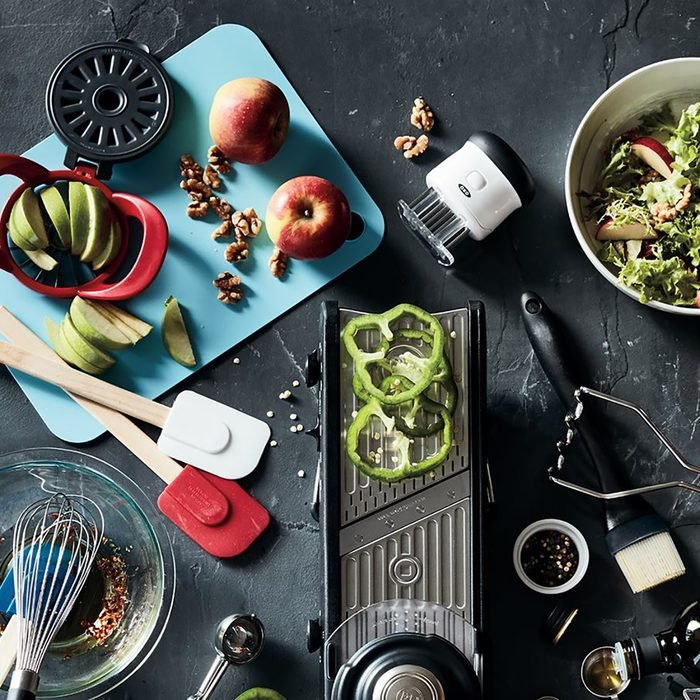 Bed Bath and Beyond kitchen gadgets in various colors