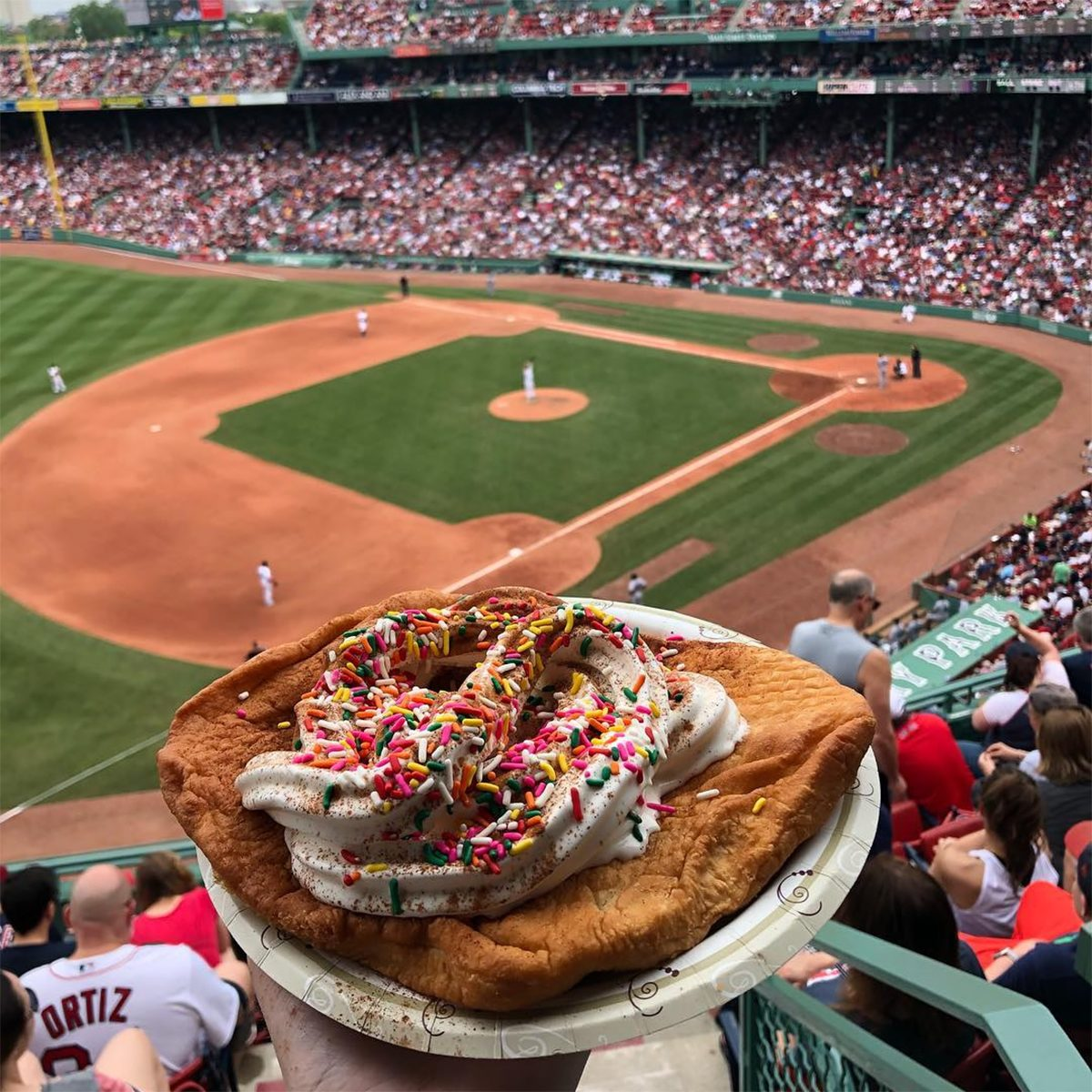 Fenway Park and Boston Red Sox Fried Dough Sundae