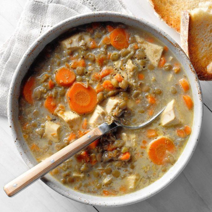 Runner Up: French Lentil and Carrot Soup