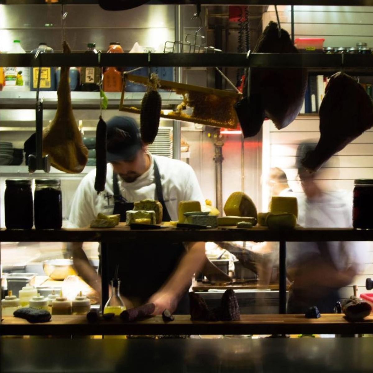 Chef working behind the scenes at Holeman & Finch