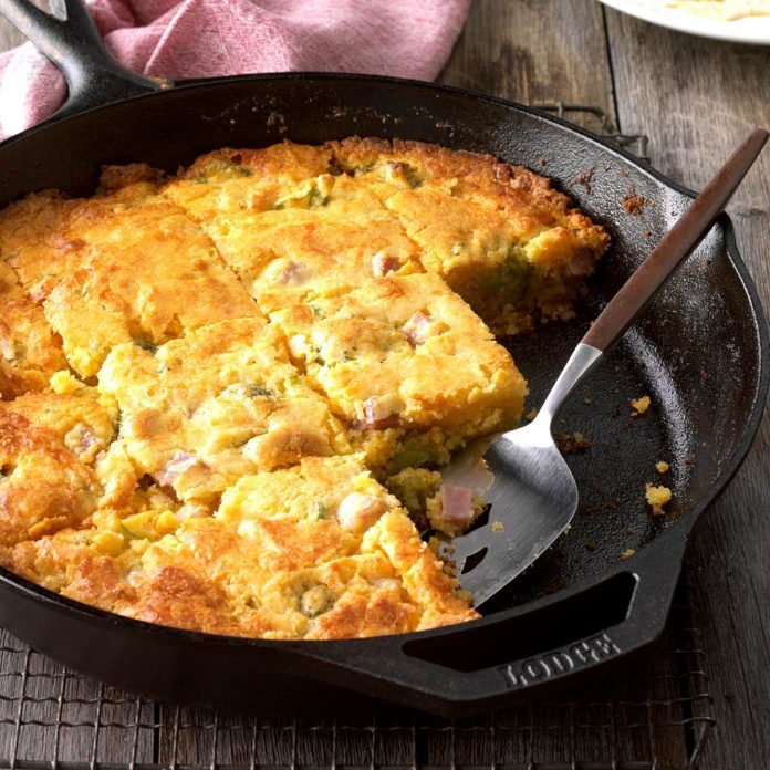 Ham and Broccoli Cornbread