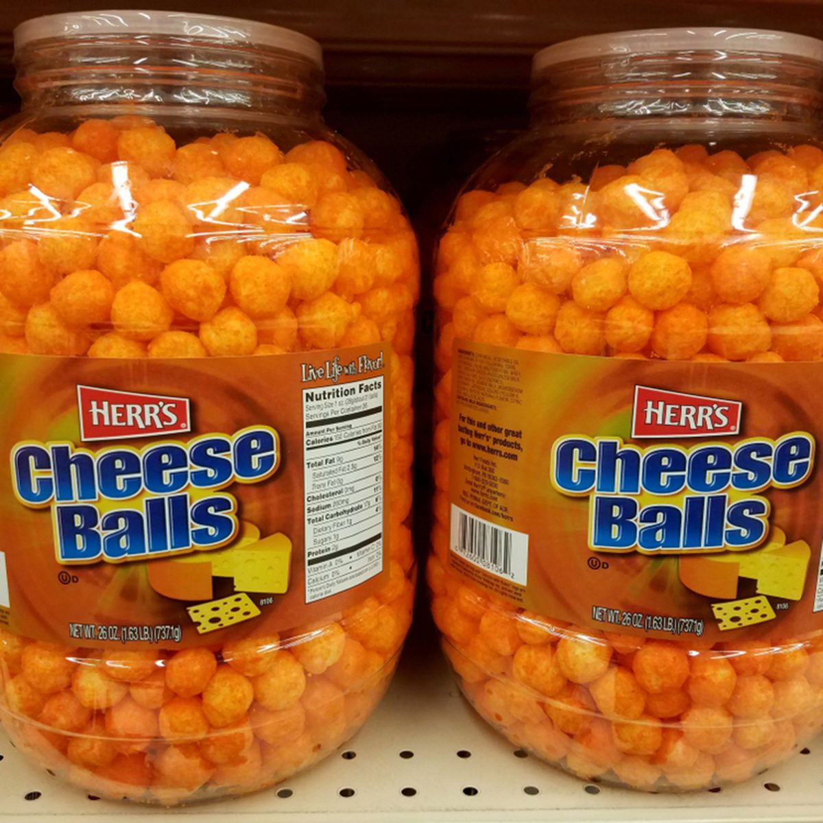 Cheese Balls by Herr's for sale on the shelves