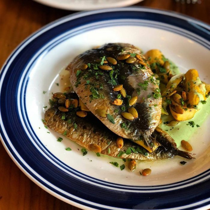 Close-up of fish at The Publican