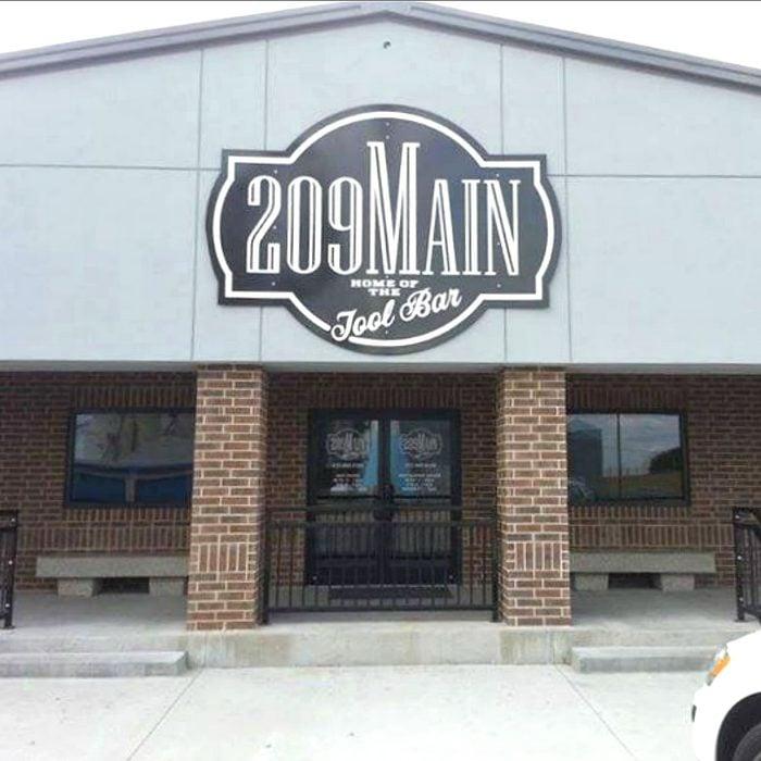 Front door of 209 Main