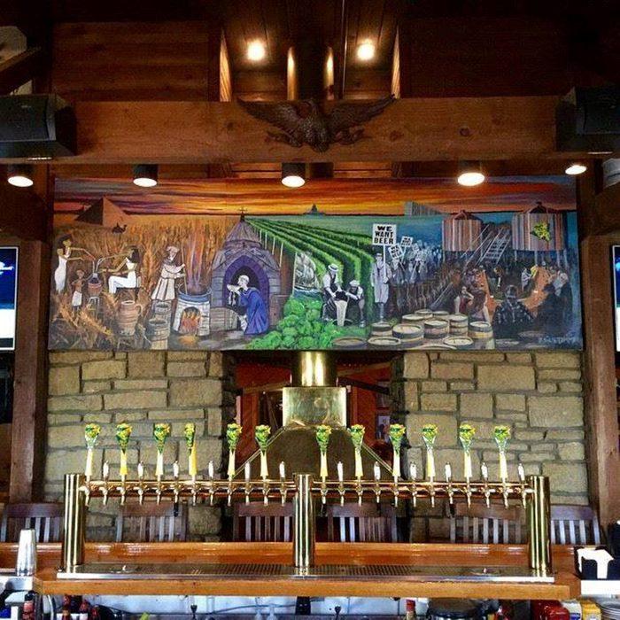 Impressive bar and artwork at Blind Tiger Brewery & Restaurant