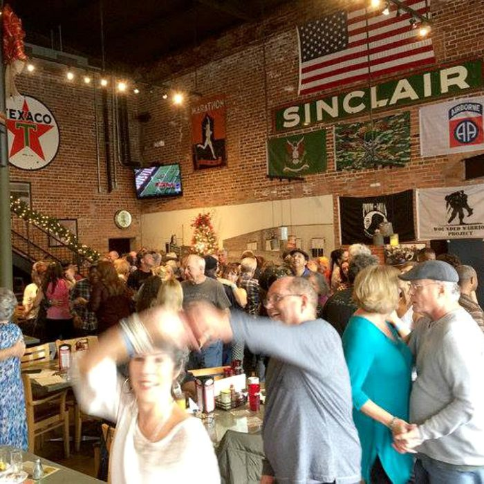 People dancing inside Buck & Johnny's