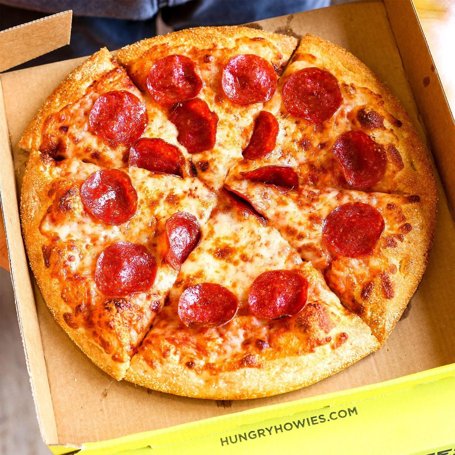 Hungry Howie's pepperoni pizza