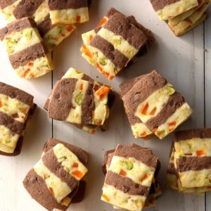 Mango Fudge Refrigerator Ribbon Cookies
