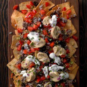 Mediterranean Hummus Nachos