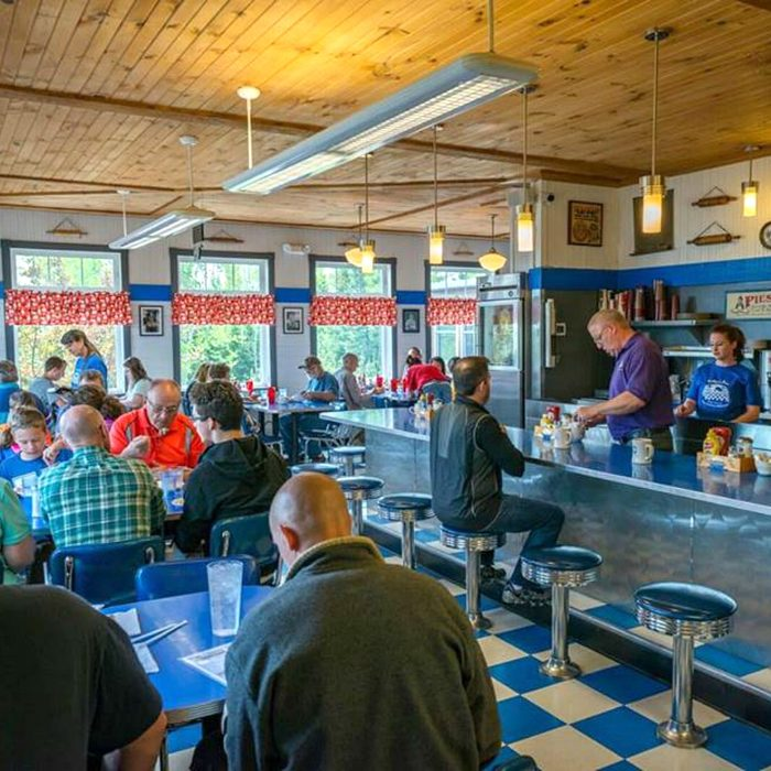 Diners eating at Betty's Pies