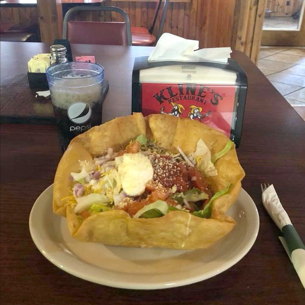 Taco salad at Kline's Restaurant