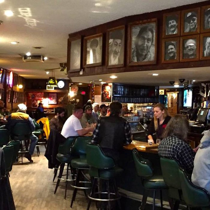 People enjoying drinks at Charlie B.'s bar