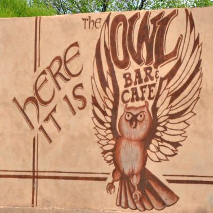 Sign for the Owl Bar and Cafe