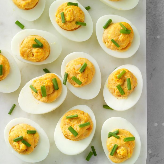Roasted Garlic Deviled Eggs