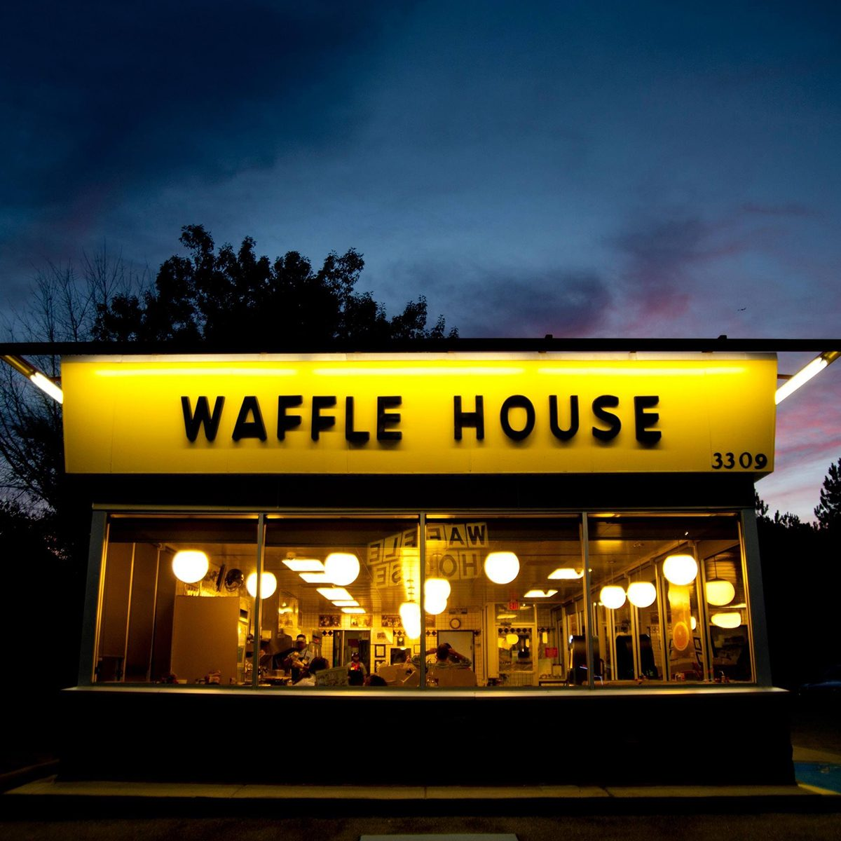 Outside of a Waffle House