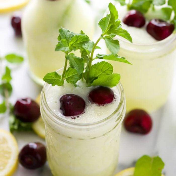 Spiked cherry lemonade slushies