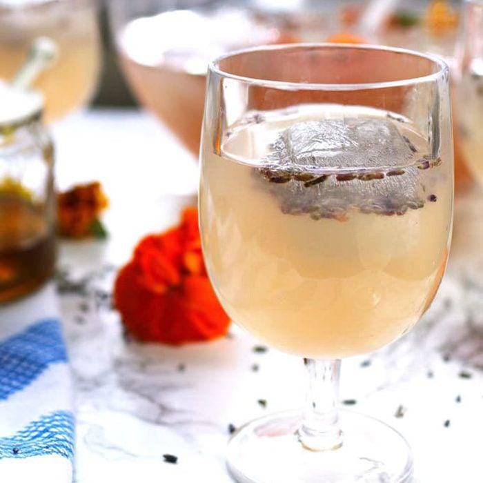 Boozy lavender honey lemonade