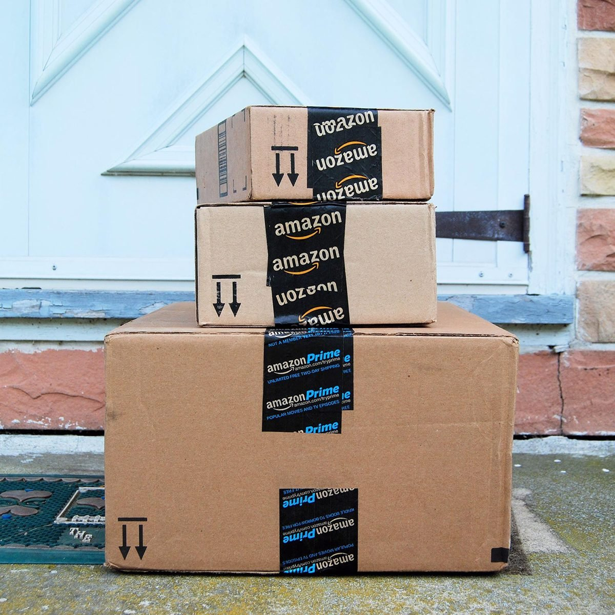 Stack of boxes from Amazon