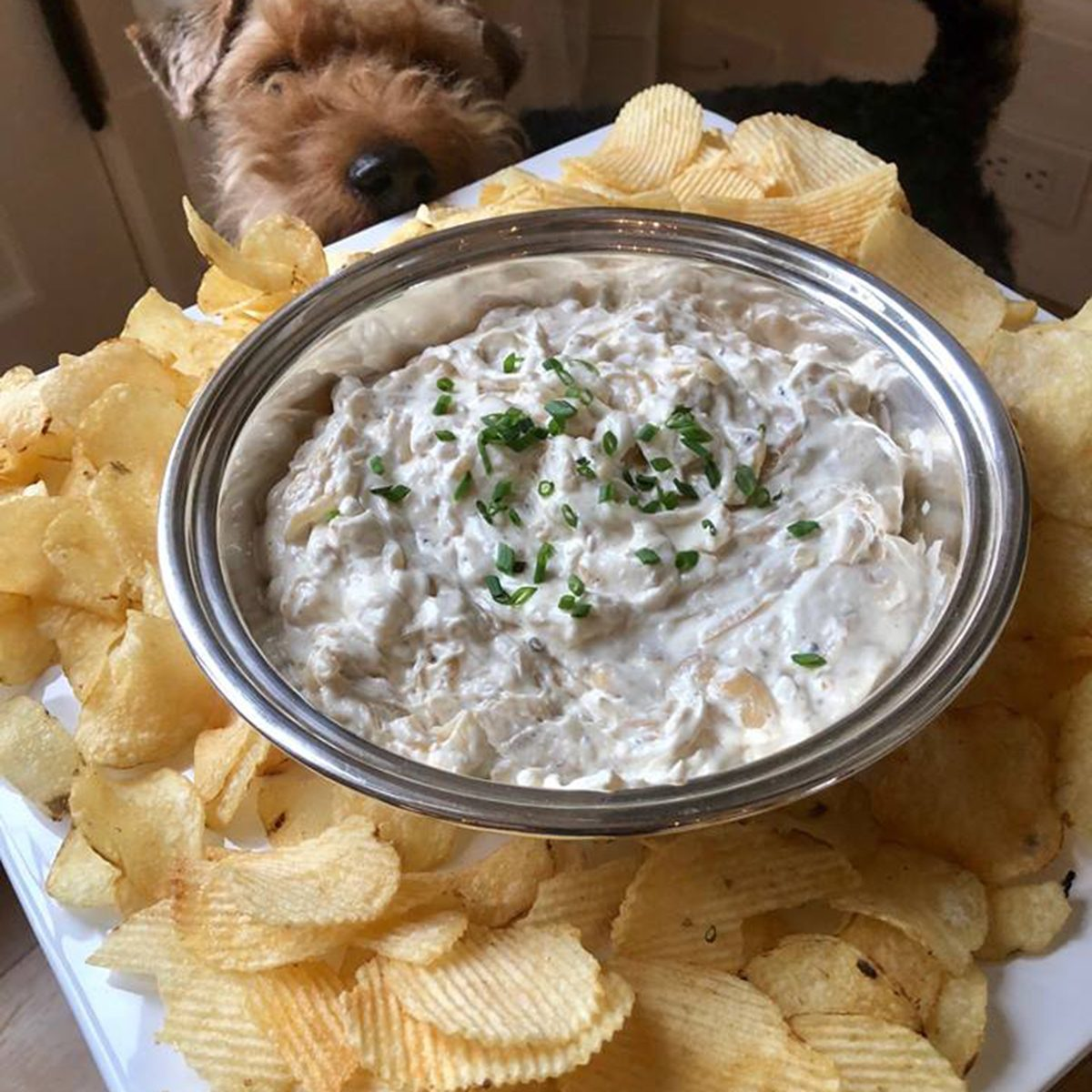 Crowd-pleasing dip and chips