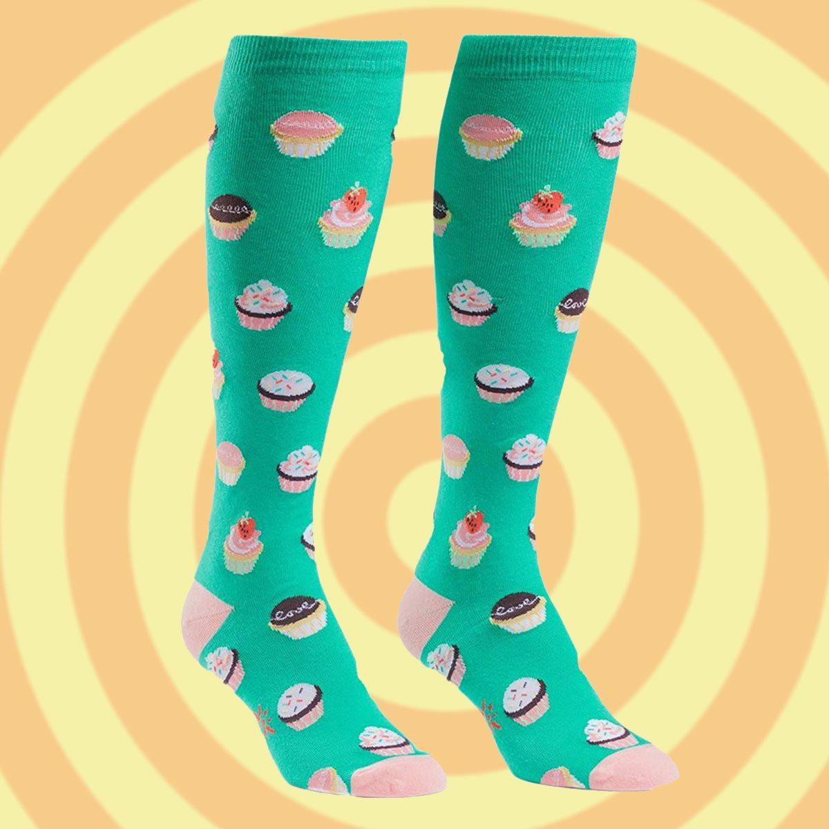 Cupcake knee socks