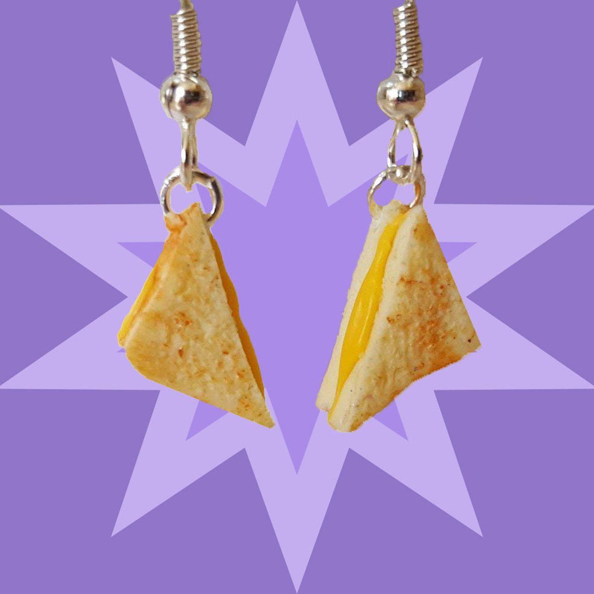 Food Jewelry - Grilled Cheese Earrings - Food Earrings