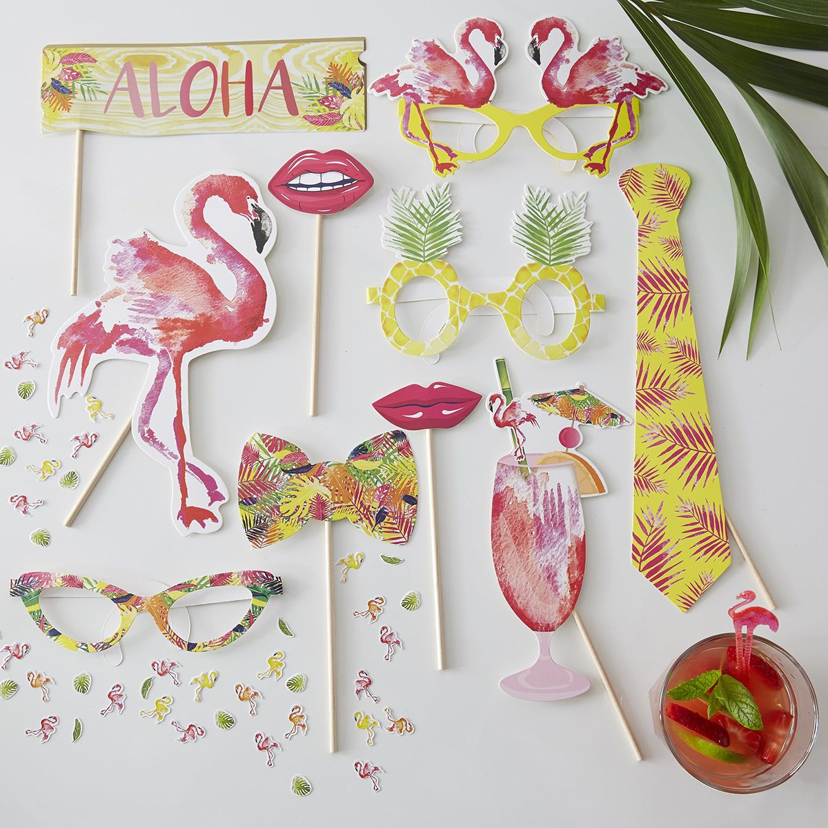 Flamingo Photo Props