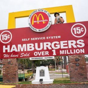 McDonald's hamburgers original location